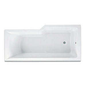 M100 L Shaped Shower Bath