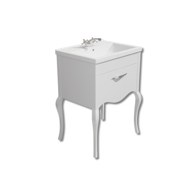 Paris 600mm Vanity Unit White with Basin