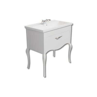 Paris 800mm Vanity Unit White with Basin