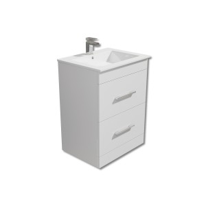 Square 600mm Vanity Unit with Basin