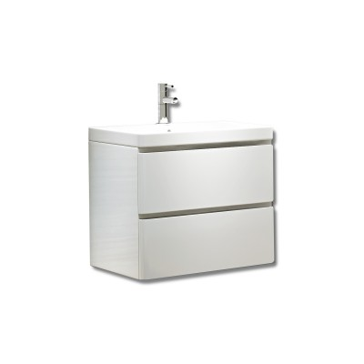 Linea 600mm Wall Unit with Basin White