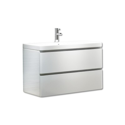 Linea 800mm Wall Unit with Basin White