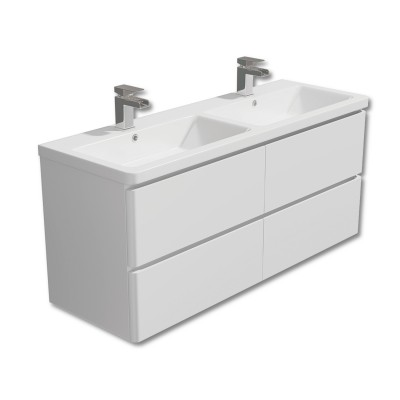 Linea 1200mm Double Wall Unit with Basin White