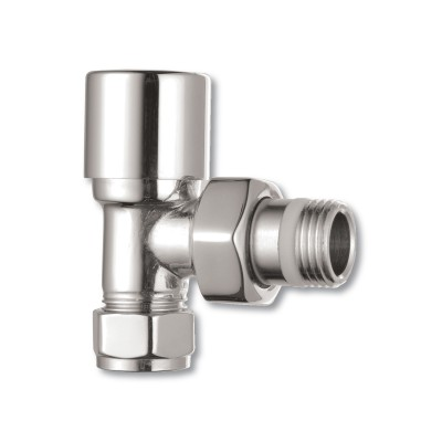 Pair of Chrome Contemporary Radiator Valves