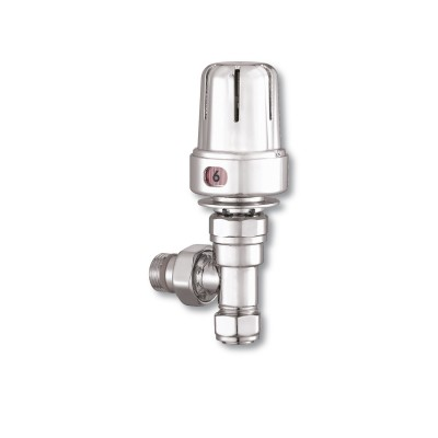 Pair of Angled Contemporary Thermostatic Valves