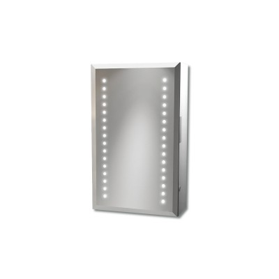 Aries Aluminium Mirrored Cabinet With Shaver Socket