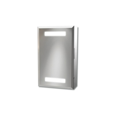 Taurus Aluminium Mirrored Cabinet Solid Light & Saver Socket