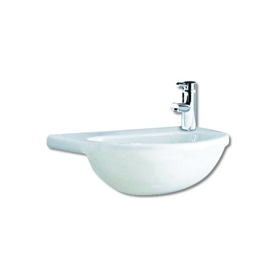 Maya 400mm Semi Recessed Basin 1TH