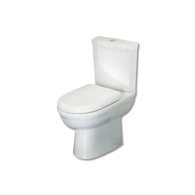 Primo Close Coupled Short Projection Pan, Cistern & soft close seat