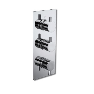 Triple Shower Valve Diverter - Round