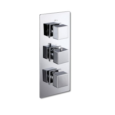 Triple Shower Valve Diverter - Square