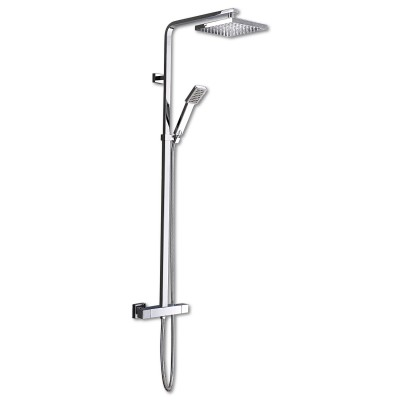 Square Thermostatic Dual Shower Set
