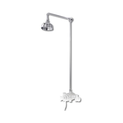 York single head Rigid Riser Shower Set