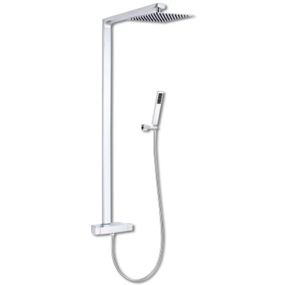 Premier Thermostatic Dual Shower Set Brass