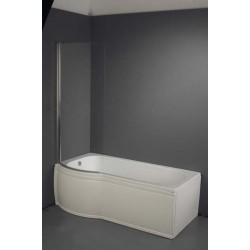 Zeya P Shaped Bath with Screen & Panel