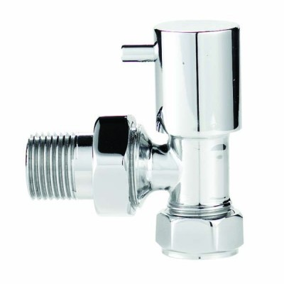 Pair of Chrome Minimalist Radiator Valves