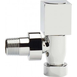 Pair of Chrome Square Radiator Valves