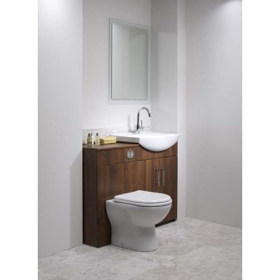 Opal 500mm Walnut WC Unit